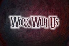 Work With Us Concept Stock Photo