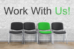 Work With Us Concept royalty free stock photos