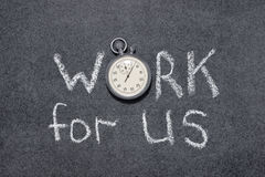 Work for us Stock Photo