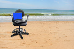 Work on vacation Royalty Free Stock Photos