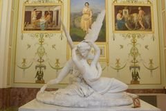 Cupid and Psyche. The Hermitage,Winter palace St. Petersburg, Russia Royalty Free Stock Image