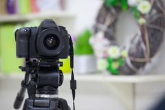 The work of a video camera in the studio Stock Photos