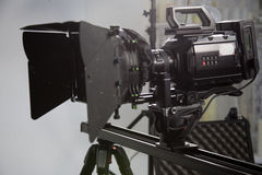 The work of a video camera in the studio Royalty Free Stock Photography
