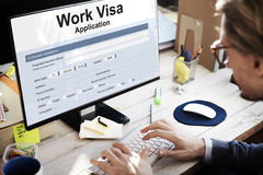 Work Visa Application Employment Recruitment Concept Stock Photography