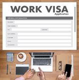 WORK Visa Application Employment Recruitment to Work businessma stock photography