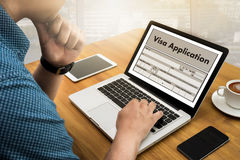WORK Visa Application Employment Recruitment to Work businessma royalty free stock image