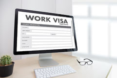 WORK Visa Application Employment Recruitment to Work businessma royalty free stock photos