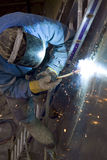 Work of the welder. On object Royalty Free Stock Images