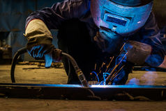 Work a welding workers in factories Royalty Free Stock Images