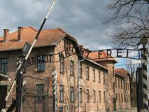 Work will set you free. Arbeit Macht Frei - Work will set you free Entryway Royalty Free Stock Images