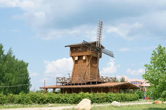 Work wooden windmill Royalty Free Stock Photography