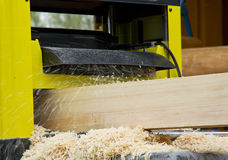 Work  woodworking the machine tool Royalty Free Stock Photo