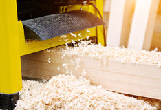 Work woodworking the machine tool royalty free stock photography