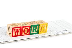 Work word and keyboard Stock Photo