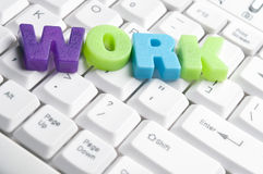 Work word made by colorful letters Stock Photo