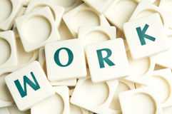 Work word made by leter pieces Stock Image