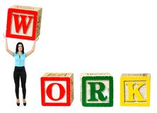 Work word Royalty Free Stock Photography