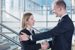 Work with you is a pleasure Stock Photos