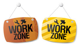 Work zone signs. Royalty Free Stock Image