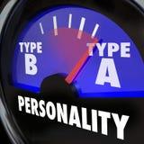 Το μανόμετρο ελέγχου ακριβείας προσωπικότητας δακτυλογραφεί μια υψηλή ανησυχία Workaholic Amb πίεσης Στοκ Φωτογραφίες