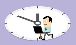 Workaholic; Nine to Five Vector Stock Photo