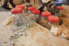 workbench инструментов винтов Стоковое Изображение RF