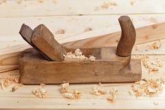 workbench плоских shavings деревянный Стоковые Изображения RF
