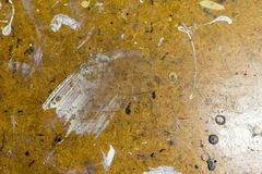 Workbench with color stains. Paint on a workbench in the workshop royalty free stock photos