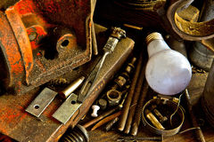 Workbench Detail Stock Photo