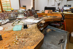 Workplace goldsmith Stock Photo