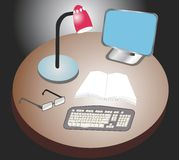 Workdesk de la oficina Imágenes de archivo libres de regalías