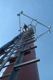 Worke di telecomunicazione Fotografia Stock Libera da Diritti