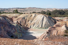 Worked out copper mine Stock Photos