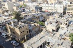Worker's生存quarter's在多哈,卡塔尔 免版税库存照片