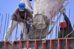 Worker. Construction worker working on site Royalty Free Stock Photography