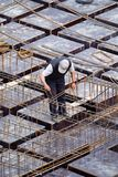 Worker. A worker, working in the construction area Royalty Free Stock Photo