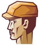 Worker. Head,  head profile Royalty Free Stock Image