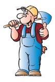 Worker. Doing a good job stock illustration