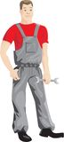 Worker. He is mechanic or another can have a different speciality, for example. The fact that is the character of a working speciality Stock Photos