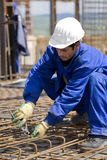 Worker. A worker on a building yard stock photography