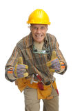 Worker. With hat isolated against a white background Stock Photography