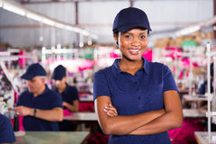 Worker arms crossed Stock Photo