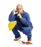Worker asking to keep silence Stock Photography