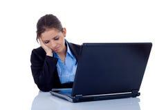 Worker, asleep at her desk Stock Photos