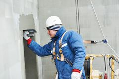 Free Worker At Plastering Facade Work Royalty Free Stock Photo - 51981455