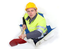 Worker with ax Stock Images