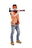 Worker with ax Royalty Free Stock Images