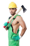 Worker with axe Stock Photos