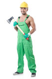 Worker with axe Royalty Free Stock Images