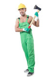 Worker with axe Stock Image